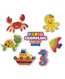Happy Kidz Paper Crumpling Craft Kit Ocean Pack Of 6 - Muti Color