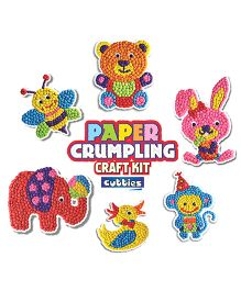 Happy Kidz Paper Crumpling Craft Kit Animal Pack Of 6 - Muti Color