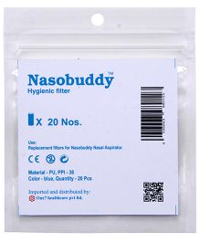 Nasobuddy Hygienic Filter Blue - Pack Of 20