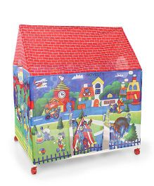 Lovely Play Tent House Slicy City Print - Multicolor