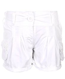 Babyhug Shorts With Two Cargo Pockets - Off White