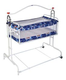 New Natraj Compact Cradle Deluxe With Mosquito Net - Blue