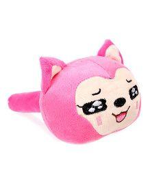 Smiling Cat Face Design Musical Hammer Pink - Length 21 cm