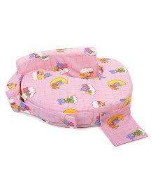 Babyhug Feeding Pillow Teddy Print - Pink