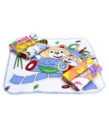 Mee Mee Baby Printed Napkin Set Of 6 - Multi Color