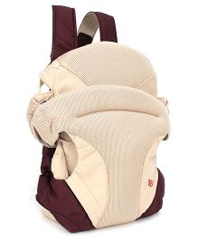 4 In 1 Soft Baby Carrier - Brown And Cream
