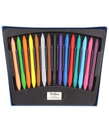 Artline Broad And Fine Tip Plastic Crayons - 15 Colors