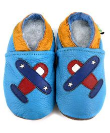 Augusta Baby Blue Airplane Shoes