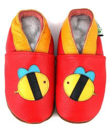 Augusta Baby Red Bumble Bee Shoes