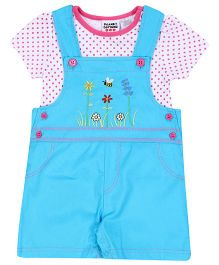 Peanut Buttons 2 Piece Blue Short All Set
