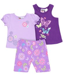 Peanut Buttons Lavender 3 Piece Shorts Set