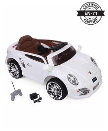 Babyhug Dream Car 6V Rechargeable Battery Operated Ride On - White