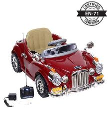 Babyhug Vintage Classic Car 6V Rechargeable Battery Operated Ride On - Red
