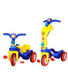 Playtool Tricycle Cum Scooter 2 in 1 - Multi Color
