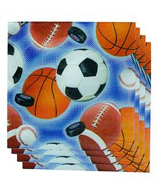 Smartcraft Paper Napkin Football Print 20 Pieces - Multicolor