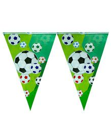 Partymanao Flag Banner Football Print - Green