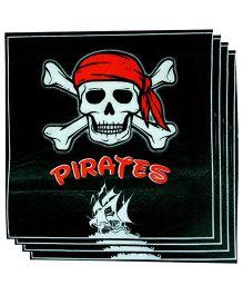 Smartcraft Paper Napkin Pirates Print 20 Pieces - Black