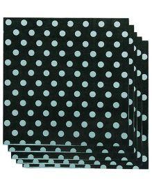Partymanao Paper Napkins Polka Dot Print 20 Pieces - Black