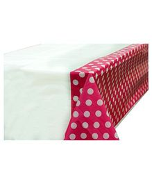 Smartcraft Plastic Table Cover Polka Dots Print - Pink