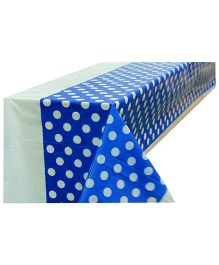 Partymanao Plastic Table Cover Polka Dots Print - Blue