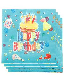 Partymanao Paper Napkin Happy Birthday Theme 20 Pieces - Sea Green