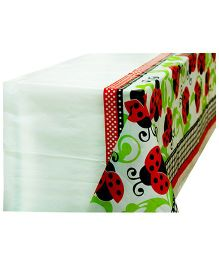 Partymanao Plastic Table Cover Lady Bug Print