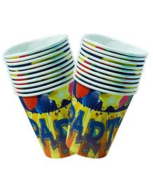 Partymanao Party Theme Cup Pack of 10 Pieces - Yellow