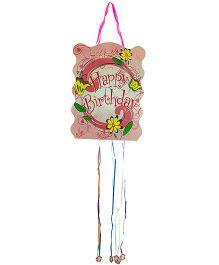 Partymanao Happy Birthday Pinata Floral Print