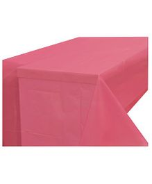Partymanao Plastic Table Cover - Pink