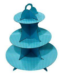 Partymanao Cupcake Stand Polka Dot Print - Blue