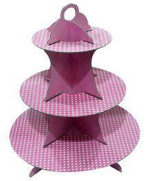 Smartcraft Cupcake Stand Polka Dot Print - Pink