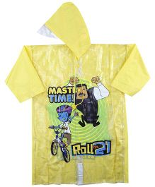 Little Krishna Full Sleeves Raincoat - Yellow