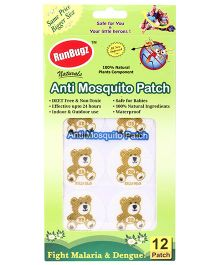 Runbugz Anti Mosquito Patches Teddy Design - 12 Patches