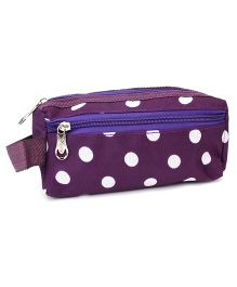 PEP INDIA Trendy Multi Purpose Pouch Polka Dots - Purple And White