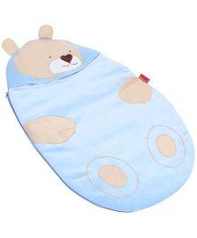 Sapphire Sleeping Bag Teddy Bear Design - Sky Blue