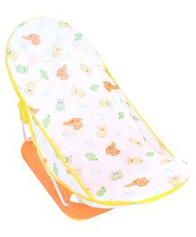 Mastela Baby Bather Animals Print - Cream And Orange