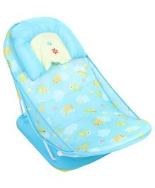 Mastela Deluxe Baby Bather Sea Animals Print - Aqua Blue