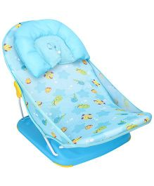 Mastela Deluxe Baby Bather Animals Print - Blue