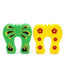 Cutez Safety Door Drawer Guards Yellow And Green - 2 Pieces