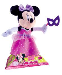 IMC Minnie Ballerina Soft Toy Pink And Purple - 30 cm