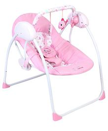 Baby Primi Portable Swing With Floral Print - Pink