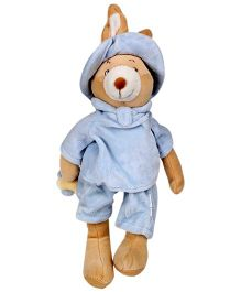 Play N Pets Infant Bear And Rabbit Blue And Brown - 25 cm