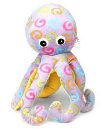 Play And Pets Octopus Soft Toy Purple - Height 35 cm