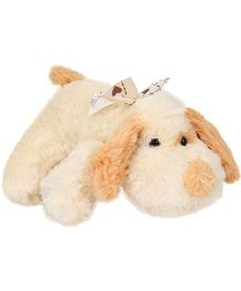 Play And Pets Lying Dog Soft Toy Cream - Height 30 cm