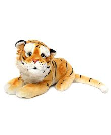 Play And Pets Tiger Soft Toy Brown - Length 41 cm