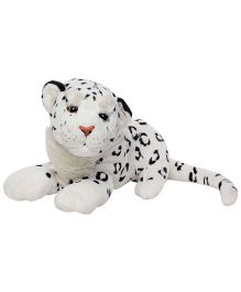 Play And Pets Snow Leopard Soft Toy White - Length 38 cm