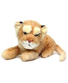Play And Pets Lioness Soft Toy Brown - Length 50 cm