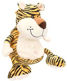 Play And Pets Tiger Plush Backpack Yellow - Length 36 cm
