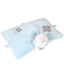 Play And Pets Bear Plush Pillow Blue - Height 27 cm