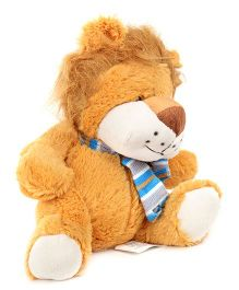 Play and Pets Lion Soft Toy With Scarf Brown - Height 20 cm